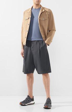 Мужские хлопковые шорты GIORGIO ARMANI серого цвета, арт. 9SGPB003/T01MP | Фото 2
