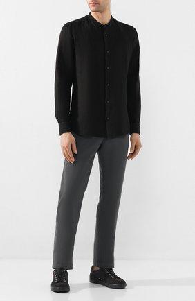 Мужская льняная рубашка Z ZEGNA черного цвета, арт. VU230/ZCSG1 | Фото 2