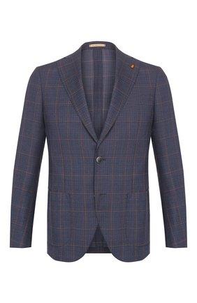 Мужской шерстяной пиджак SARTORIA LATORRE темно-синего цвета, арт. EF74 Q70605 | Фото 1