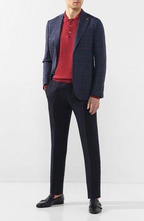 Мужской шерстяной пиджак SARTORIA LATORRE темно-синего цвета, арт. EF74 Q70605 | Фото 2