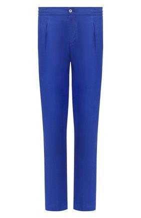 Мужской льняные брюки MARCO PESCAROLO синего цвета, арт. CHIAIA/4129 | Фото 1