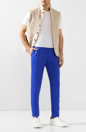 Мужской льняные брюки MARCO PESCAROLO синего цвета, арт. CHIAIA/4129 | Фото 2