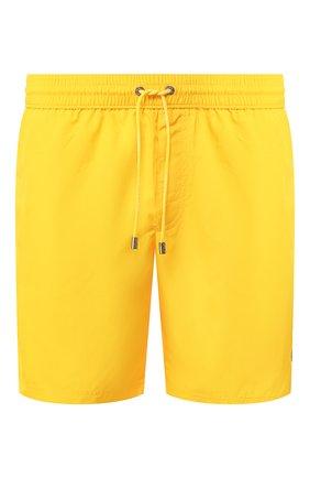 Мужские плавки-шорты DOLCE & GABBANA желтого цвета, арт. M4A74T/FUSFW | Фото 1 (Материал внешний: Синтетический материал; Принт: Без принта; Кросс-КТ: Пляж; Мужское Кросс-КТ: плавки-шорты)