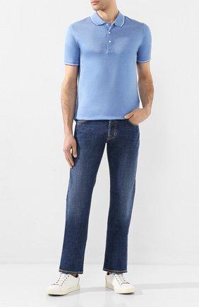 Мужские джинсы JACOB COHEN синего цвета, арт. J620 C0MF 01190-W2/53 | Фото 2