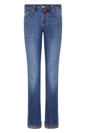 Мужские джинсы JACOB COHEN синего цвета, арт. J620 C0MF 01843-W2/53 | Фото 1