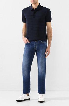 Мужские джинсы JACOB COHEN синего цвета, арт. J688 C0MF 00919-W2/53   Фото 2