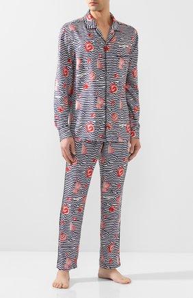 Мужские шелковые домашние брюки DOLCE & GABBANA разноцветного цвета, арт. GYB0HT/HS19K   Фото 2