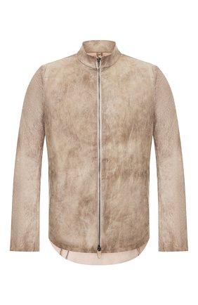 Мужская кожаная куртка DANIELE BASTA бежевого цвета, арт. DB590X36STB/C0RIUM ST B | Фото 1