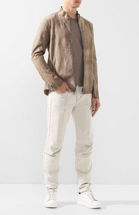 Мужская кожаная куртка DANIELE BASTA бежевого цвета, арт. DB590X36STB/C0RIUM ST B | Фото 2