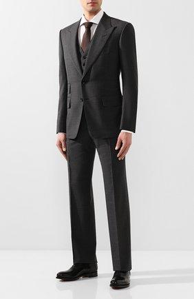 Мужской шерстяной костюм-тройка TOM FORD серого цвета, арт. 711R16/31AL41 | Фото 1