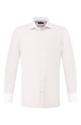 Мужская хлопковая сорочка TOM FORD бежевого цвета, арт. 7FT775/94SWAX | Фото 1