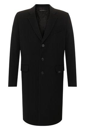 Мужской пальто из смеси шерсти и кашемира GIVENCHY черного цвета, арт. BMC03G1084 | Фото 1