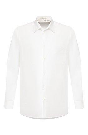 Мужская хлопковая рубашка ISABEL BENENATO белого цвета, арт. UW34S20 | Фото 1