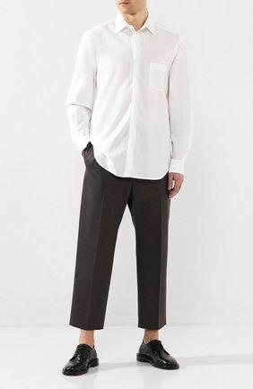 Мужская хлопковая рубашка ISABEL BENENATO белого цвета, арт. UW34S20 | Фото 2
