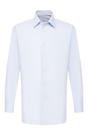 Мужская хлопковая сорочка BRIONI светло-голубого цвета, арт. RCLU2R/P708I   Фото 1