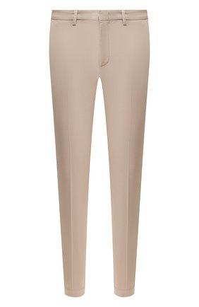 Мужские хлопковые брюки BOSS бежевого цвета, арт. 50410310 | Фото 1
