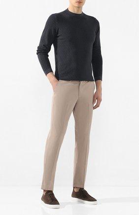 Мужские хлопковые брюки BOSS бежевого цвета, арт. 50410310 | Фото 2