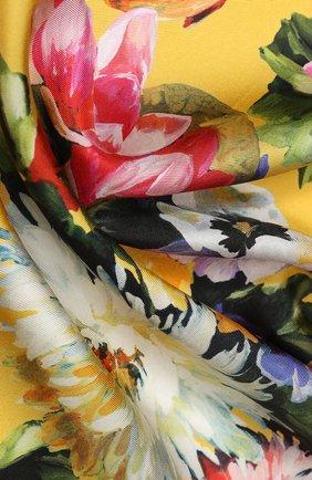 Женский шелковый платок DOLCE & GABBANA разноцветного цвета, арт. FN090R/GDK35 | Фото 2