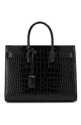 Женская сумка sac de jour small SAINT LAURENT черного цвета, арт. 398709/1Q00R | Фото 1