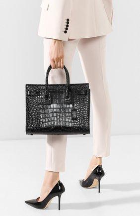 Женская сумка sac de jour small SAINT LAURENT черного цвета, арт. 398709/1Q00R | Фото 2