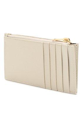 Женский кожаный футляр для кредитных карт SAINT LAURENT белого цвета, арт. 607915/B0W01 | Фото 2