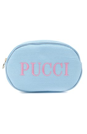 Женская косметичка EMILIO PUCCI голубого цвета, арт. 0ESF39/0E903 | Фото 1
