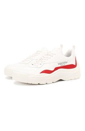 Женские кожаные кроссовки valentino garavani gumboy VALENTINO красного цвета, арт. TW2S0K55/AEQ | Фото 1