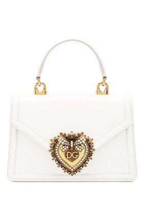 Женская сумка devotion small DOLCE & GABBANA белого цвета, арт. BB6711/A1037 | Фото 1