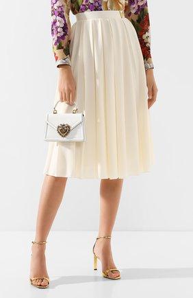Женская сумка devotion small DOLCE & GABBANA белого цвета, арт. BB6711/A1037 | Фото 2