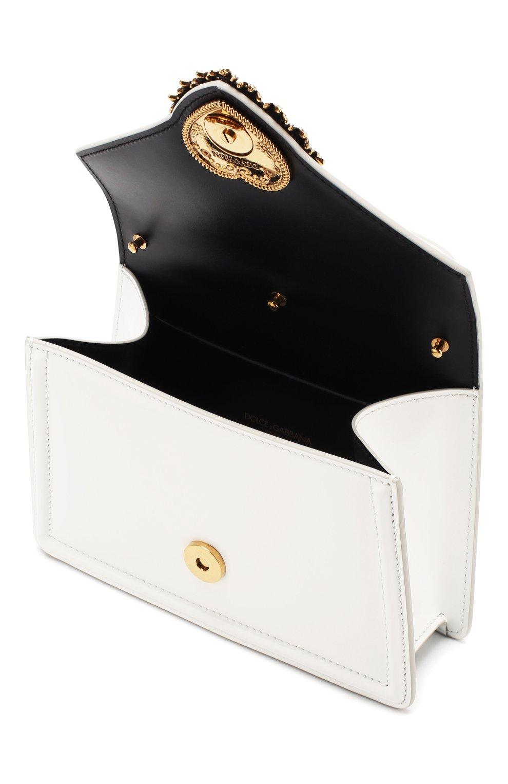 Женская сумка devotion small DOLCE & GABBANA белого цвета, арт. BB6711/A1037 | Фото 4