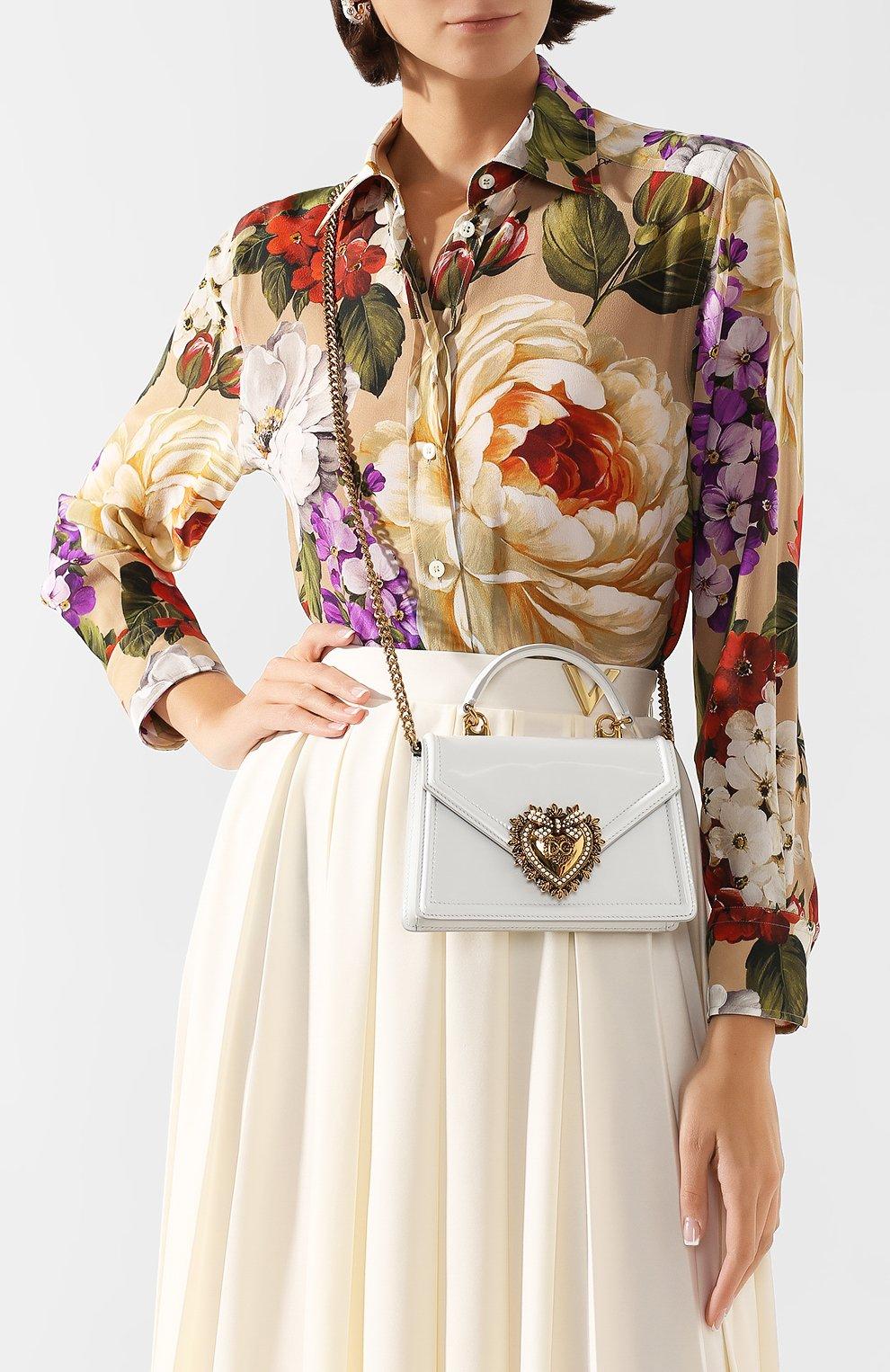 Женская сумка devotion small DOLCE & GABBANA белого цвета, арт. BB6711/A1037 | Фото 5