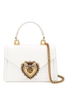 Женская сумка devotion small DOLCE & GABBANA белого цвета, арт. BB6711/A1037 | Фото 6