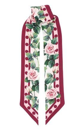Мужские шелковый шарф-бандо DOLCE & GABBANA белого цвета, арт. FS215A/GDS17 | Фото 1