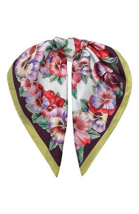 Женский шелковый платок DOLCE & GABBANA фиолетового цвета, арт. FN093R/GDS56 | Фото 1