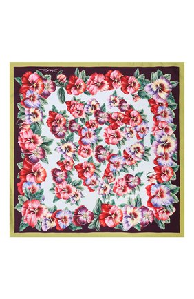 Женский шелковый платок DOLCE & GABBANA фиолетового цвета, арт. FN093R/GDS56 | Фото 2