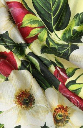 Женский шелковый платок DOLCE & GABBANA желтого цвета, арт. FN090R/GDS51 | Фото 2