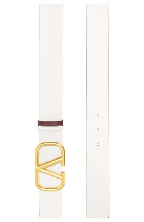 Женский кожаный ремень valentino garavani VALENTINO белого цвета, арт. TW0T0S11/ZFR | Фото 2