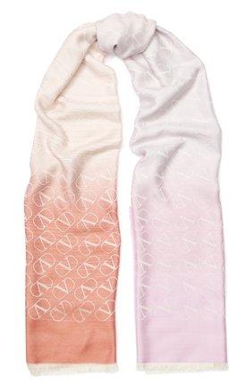 Мужские шарф valentino garavani из смеси шелка и кашемира VALENTINO светло-розового цвета, арт. TW0ED007/NID | Фото 1