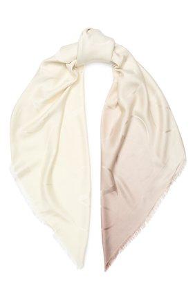 Женский платок valentino garavani из смеси шелка и кашемира VALENTINO бежевого цвета, арт. TW0EB104/ZVG | Фото 1