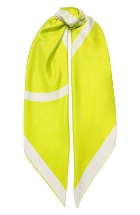 Женский шелковый платок valentino garavani VALENTINO желтого цвета, арт. TW0EB104/MPT | Фото 1