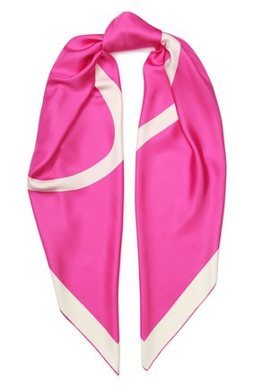 Женский шелковый платок valentino garavani VALENTINO фуксия цвета, арт. TW0EB104/MPT | Фото 1