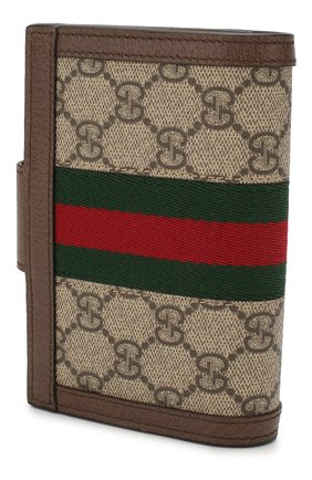 Женские обложка для паспорта ophidia GUCCI бежевого цвета, арт. 598914/96IWG | Фото 2