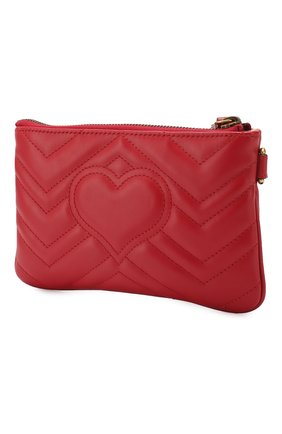 Женские кожаный кошелек gg marmont GUCCI красного цвета, арт. 598598/DTDCT | Фото 2