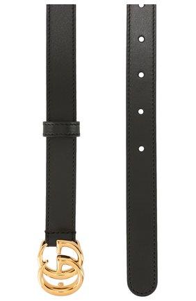 Женский кожаный ремень GUCCI черного цвета, арт. 409417/0YA00   Фото 2