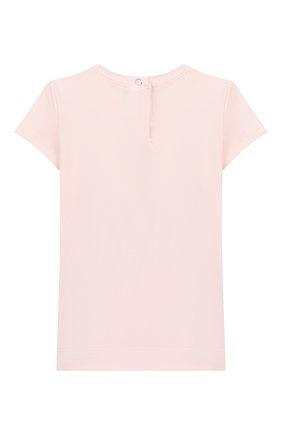 Детский хлопковая футболка MONNALISA розового цвета, арт. 395609SD | Фото 2