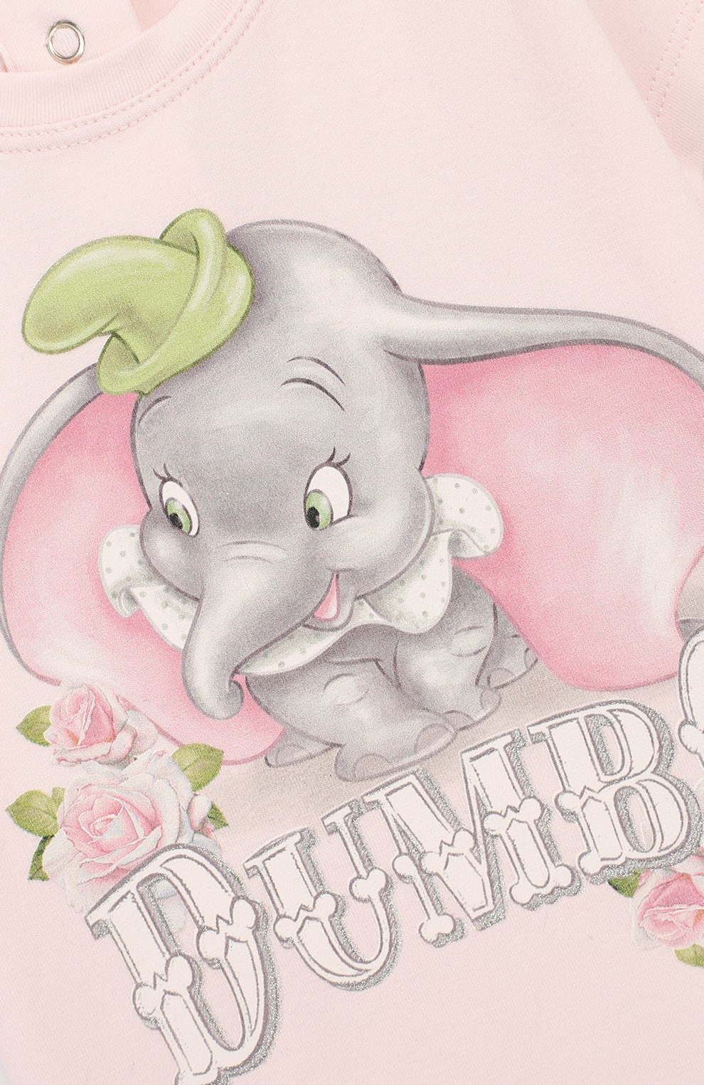 Детский хлопковая футболка MONNALISA розового цвета, арт. 395609SD   Фото 3