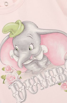 Детский хлопковая футболка MONNALISA розового цвета, арт. 395609SD | Фото 3