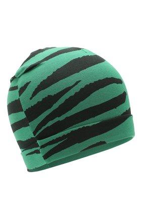 Детского шапка MINI RODINI зеленого цвета, арт. 20265122 | Фото 1