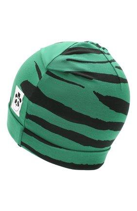 Детского шапка MINI RODINI зеленого цвета, арт. 20265122 | Фото 2