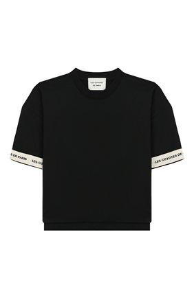 Детская хлопковая футболка LES COYOTES DE PARIS черного цвета, арт. 111-22-106 | Фото 1